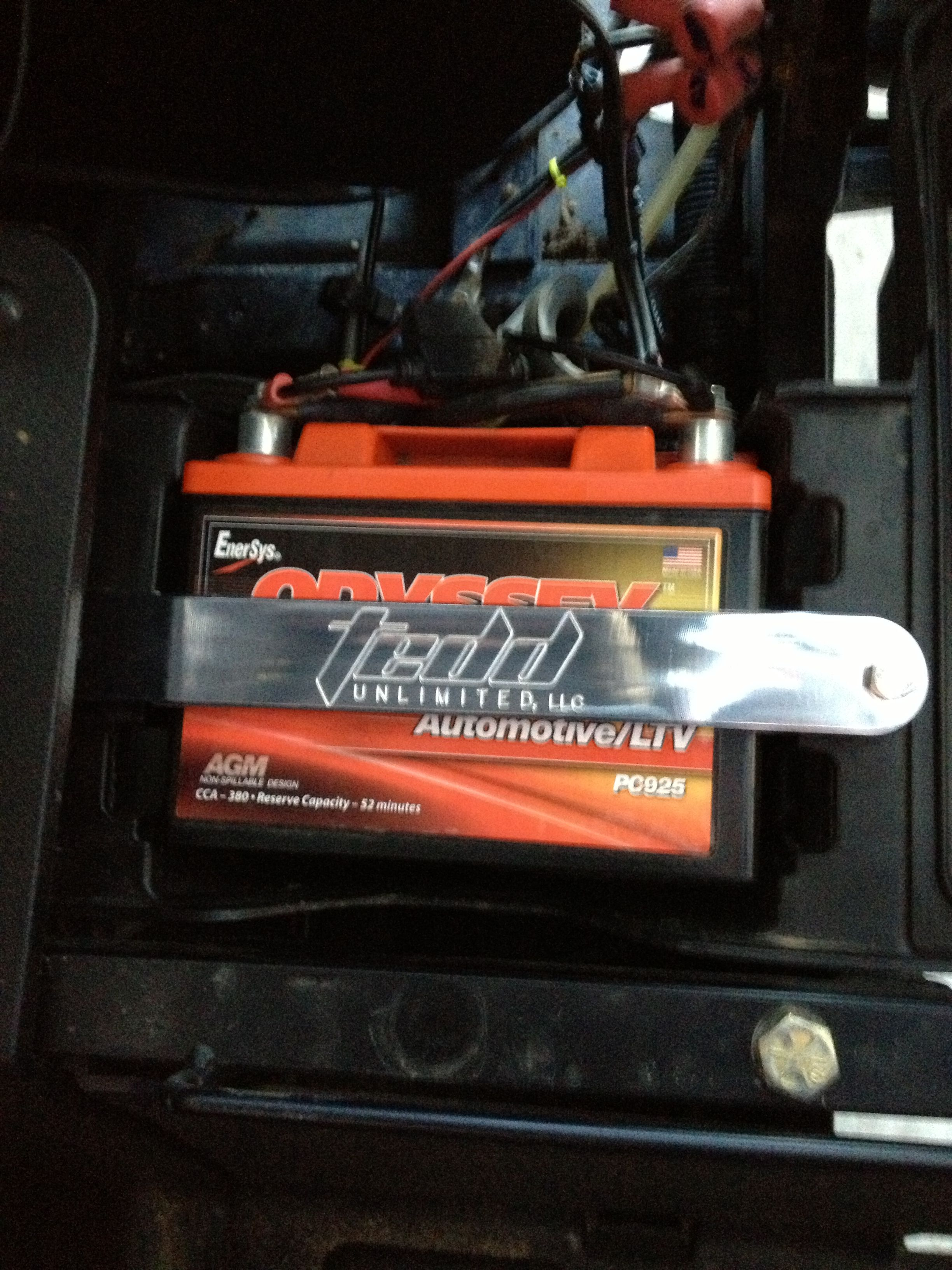 billet battery hold down for the odyssey pc925 batter shop car suitcase shopping [ 2448 x 3264 Pixel ]