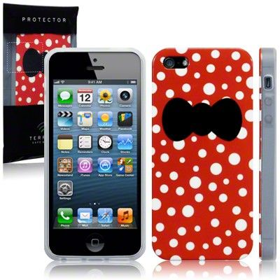 IPhone 5 Glossy Image Back Cover - Bow Belles