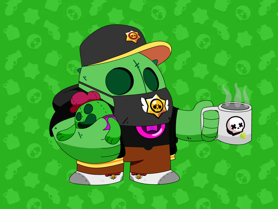 Spike In Brawl Stars Merch Brawlstars In 2020 Star Wallpaper Brawl Star Art
