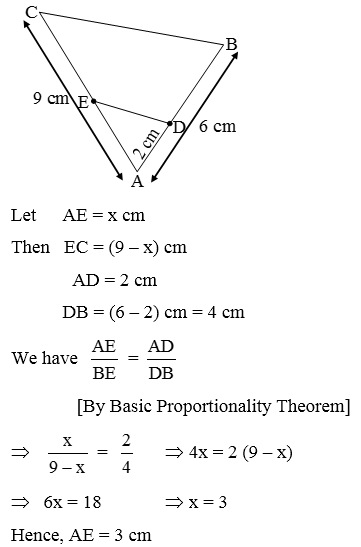 Basic Proportionality Theorem or Thales Theorem - A Plus