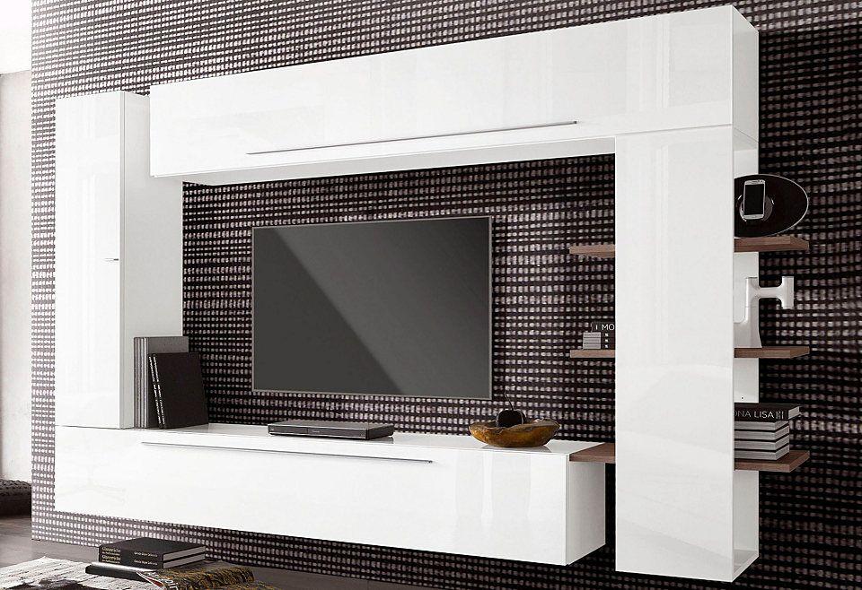 LC Wohnwand Breite 274 Cm Ab Hochglanz Fronten, FSC® Zertifizierter  Holzwerkstoff, Italian Design, Pflegeleichte Oberflächen Bei OTTO