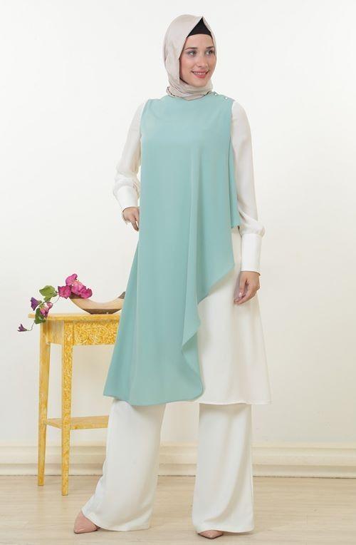 Tuğba Son 3 Ürün..! Tuğba Tunik 149,99 TL.. Tuğba Tunik-Ekru Mint D6610-3560 http://www.zerafettesettur.com/M124,tugba-venn.htm #InstaSize #moda #tasarım #tesettür #giyim #fashion #ınstagram #etek #tunik #kap #kampanya #woman #alışveriş #özel #zerafet