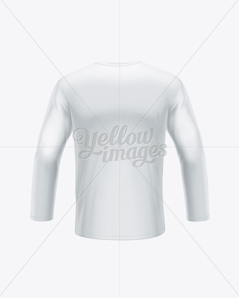 Download Men S Long Sleeve T Shirt Back View In Apparel Mockups On Yellow Images Object Mockups Clothing Mockup Men S Long Sleeve T Shirt Mens Long Sleeve