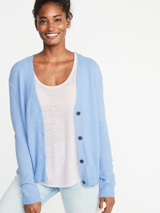 de9bc545f94 Old Navy Slouchy Soft-Brushed V-Neck Cardi for Women in 2019 ...