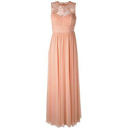Schickes Apricotfarbene Kleid Von Apart Durch Die Optik Aus