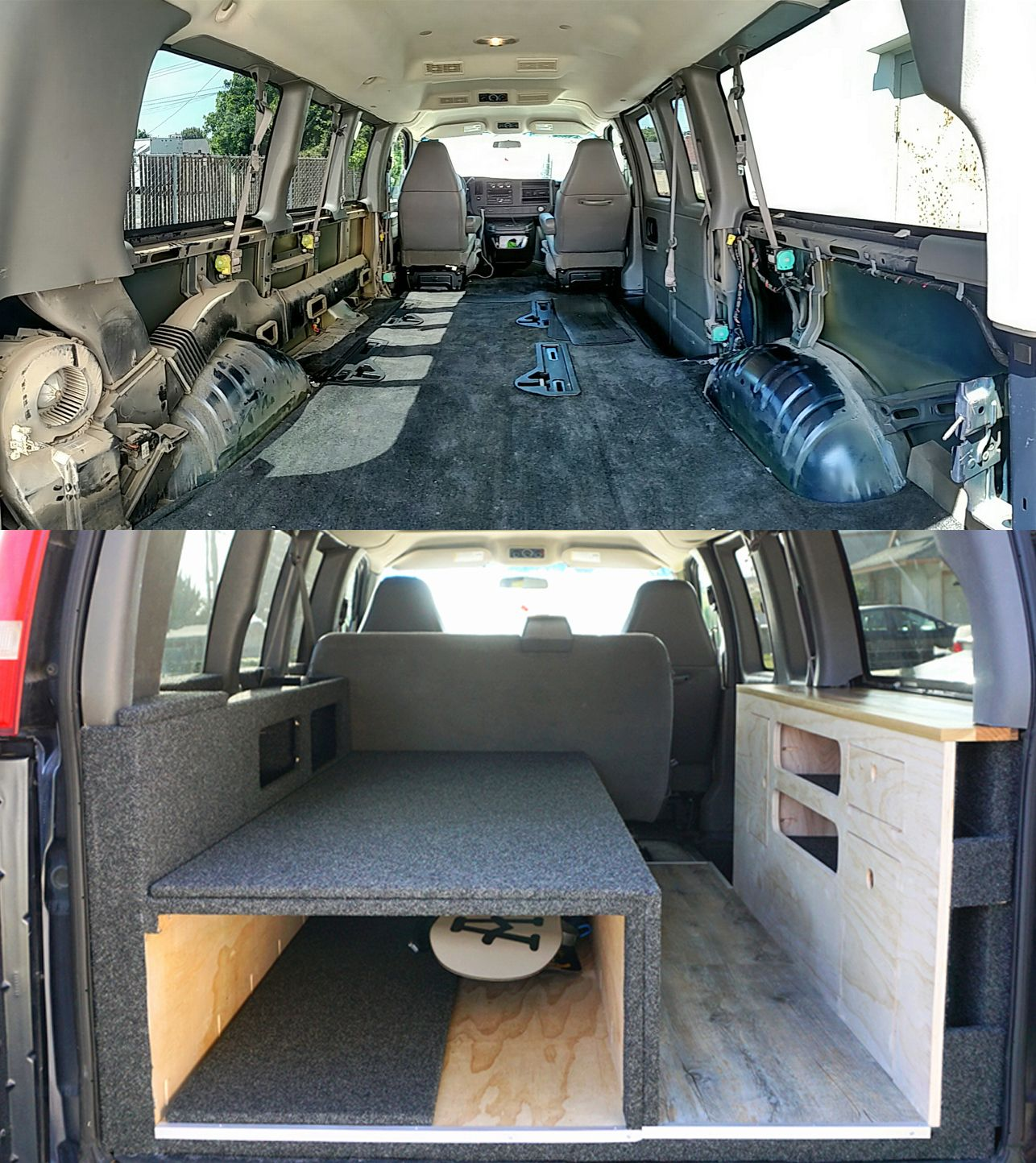 Van Conversion In A Chevy Express Truck And Van