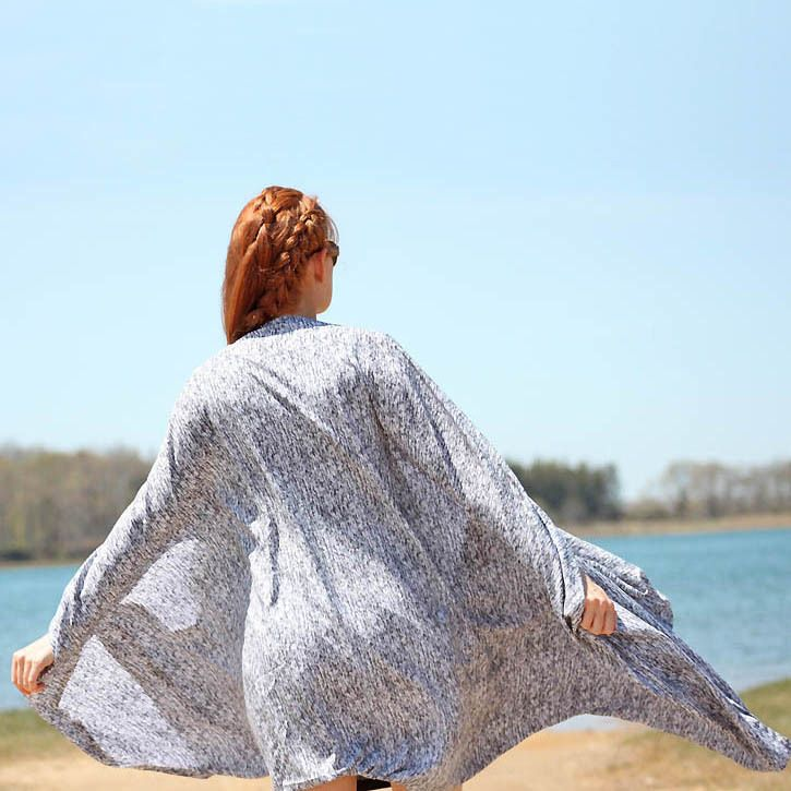 No Pattern Beach Kimono | Sewing and fashion and style | Pinterest
