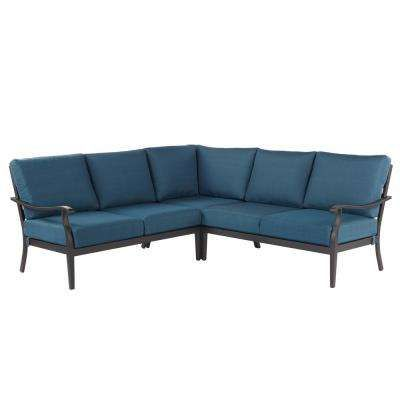 $500 Home Depot Riley 3 Piece Metal Outdoor Sectional Set with