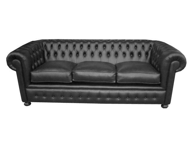 Sofa chester tapizado en color negro totalmente restaurado una joya de la decoraci n www - Sillones antiguos restaurados ...