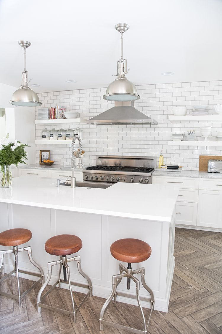 A Bright White Family-Friendly Kitchen | Bright, Modern cottage ...