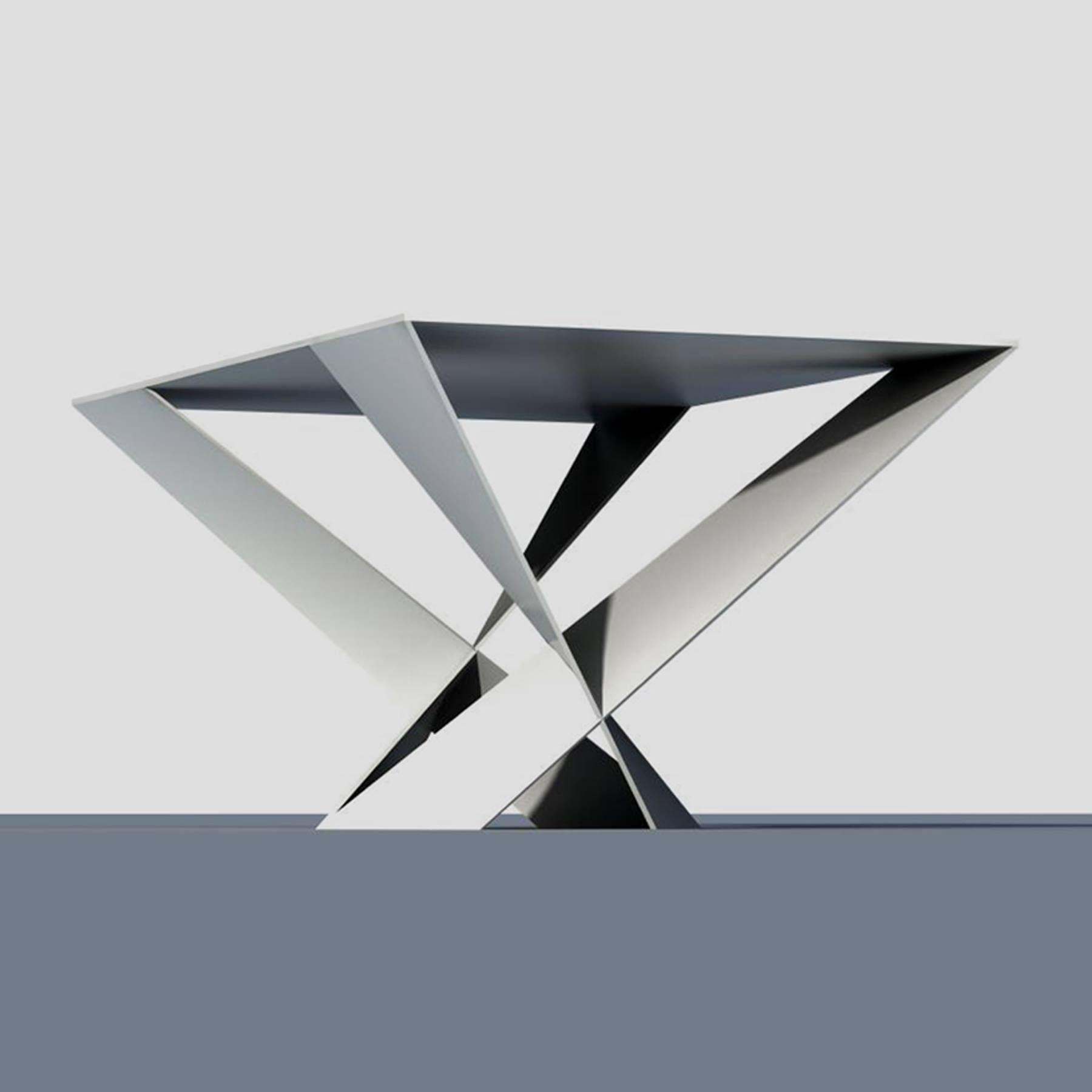 ORIGAMI, tavolino in metallo  design claudia bignoli