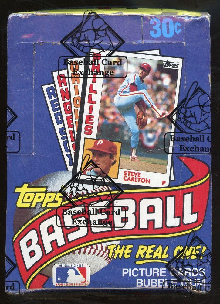 1984 topps baseball unopened wax pack box bbce sealed