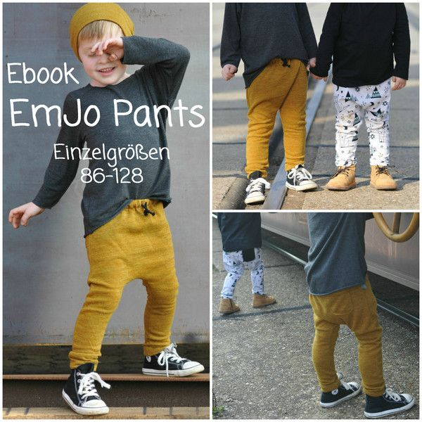 Ebook EmJo Pants - Hose 86-128 - Schnitt/Anleitung   Jungs, Dawanda ...