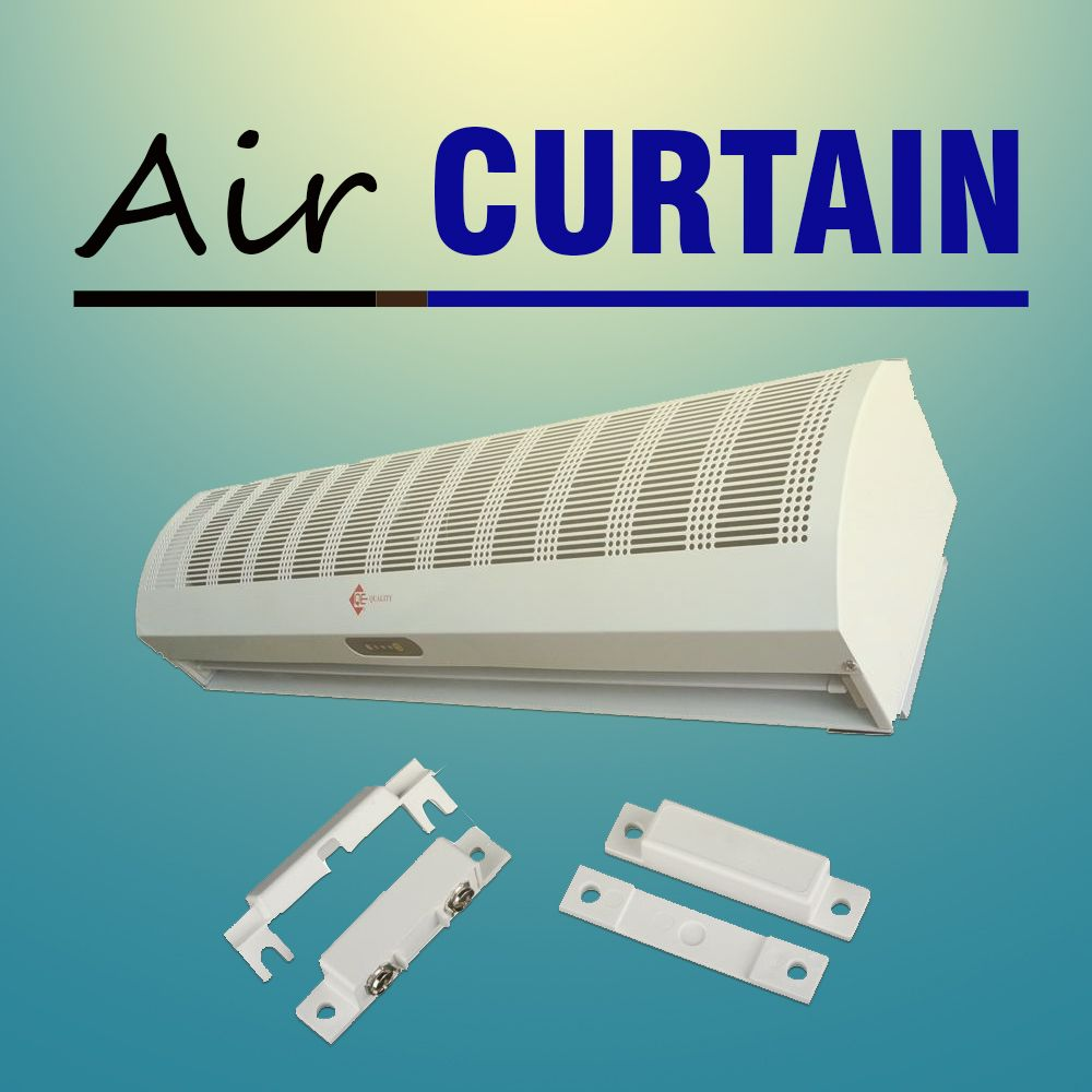 Qe 36 Air Curtain Fly Fan W Remote 115 V In 2020 With Images Remote Curtains Split System