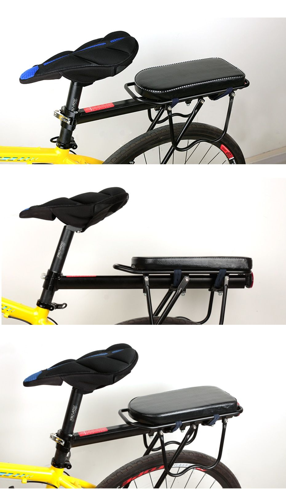 Bicycle Saddle Rear Seat Mat Child Seat Cover Bike Rack Cushion For