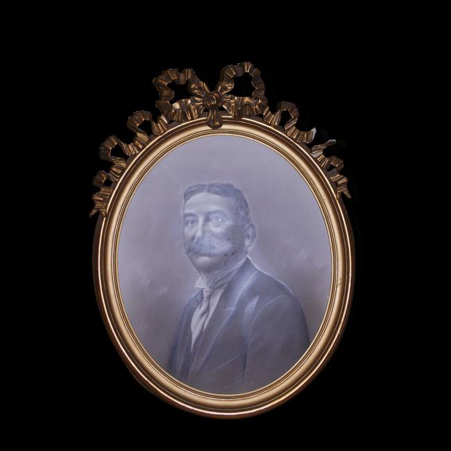 Cadre Ovale Dore Avec Un Noeud Frame Frame Me Bronze