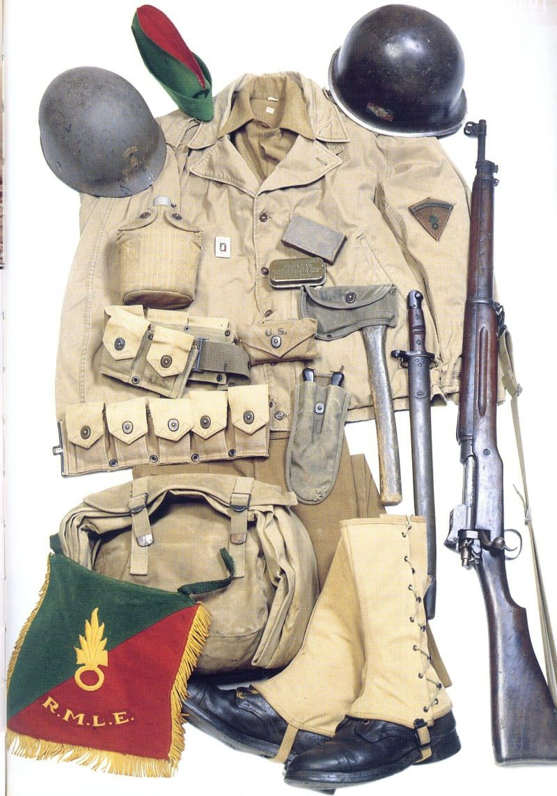 Equipment Of The Infantryman Of The French Foreign Legion Legion Etrangere During Wwii In 2020 Wwii Military Uniforms French Foreign Legion Legion Etrangere
