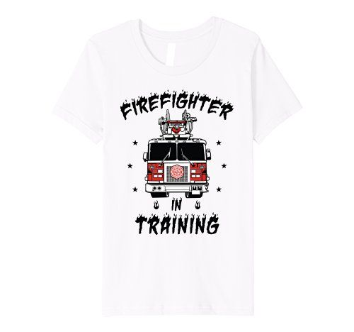b433f717095 Kids Fire Truck Firefighter Premium Shirt For Boys Kids $16.99 Amazon