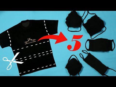 Mundschutz selber machen deutsch: 5 Varianten Mundschutz aus T-Shirt ohne nähen - YouTube