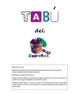 Fichas Juego Tabu En Espanol Vocabulari Pinterest En Espanol