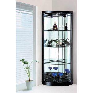 Corner Display Cabinet With Glass Doors Corner Display Cabinet