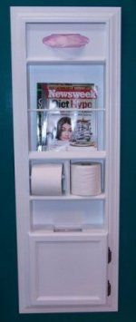 Recessed Wood In The Wall Magazine Rack Trash Can, Toilet Paper Holder,  Tissue Kleenex