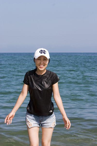 여름 동해바다에서..