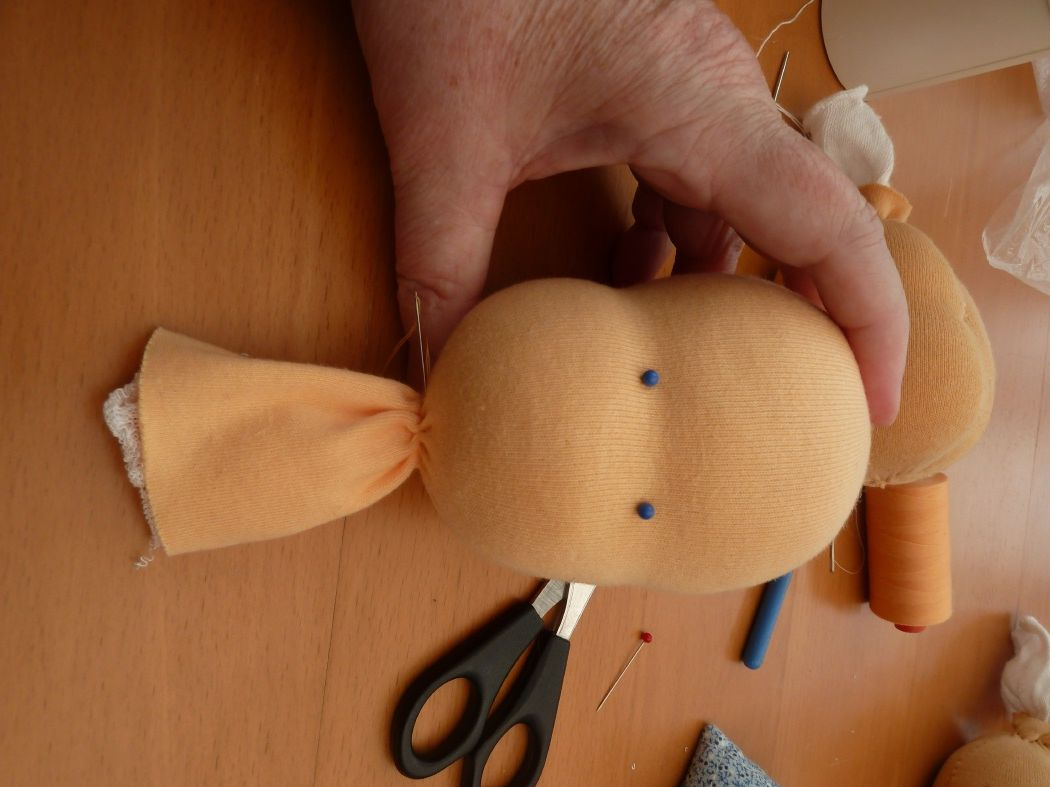 Nähanleitung Waldorfpuppe - the head | Dolls & Softies | Pinterest ...