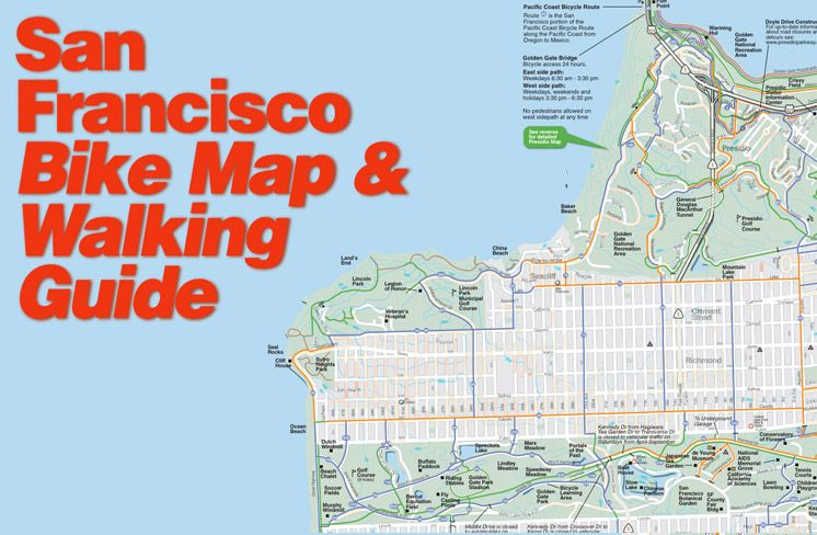 SF Walking And Biking Guide San Francisco Pinterest San - San francisco bike map