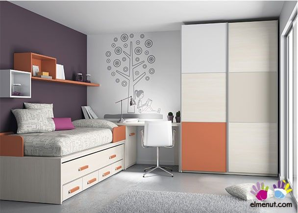 Habitaci n juvenil con compacto serie lur dormitorios for Muebles juveniles zona sur