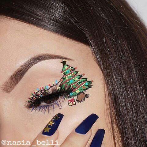 Pin by Дарья on MakeUp#2 | Christmas eye makeup, Xmas ...