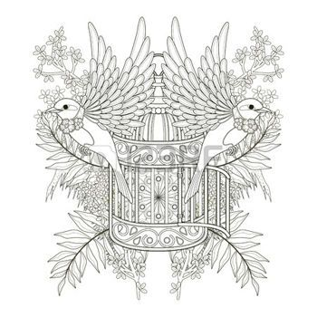 coloring pages print: diseño de páginas para colorear pájaro alegre ...