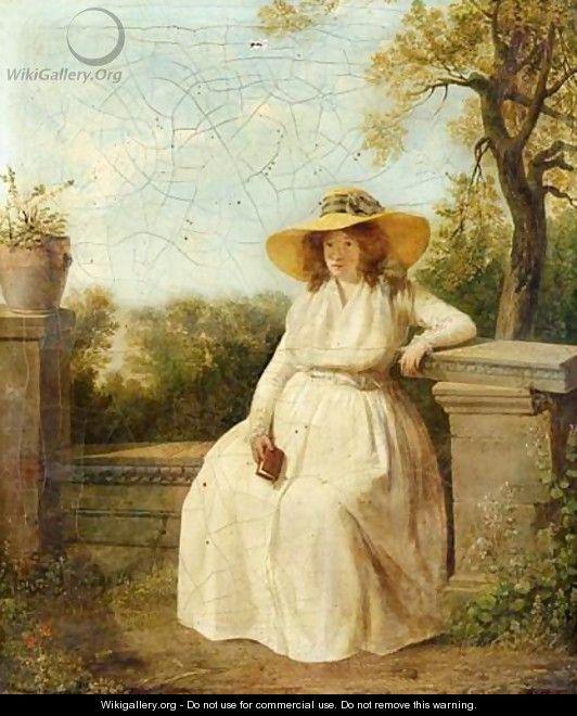Portrait De Madame Danloux Enceinte - Jacques Henri Sablet
