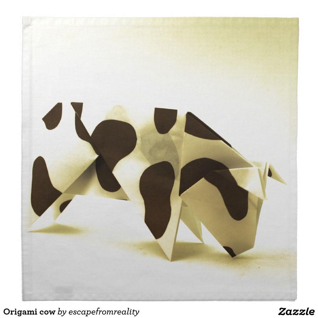 origami cow cloth napkin for mario pinterest kuh