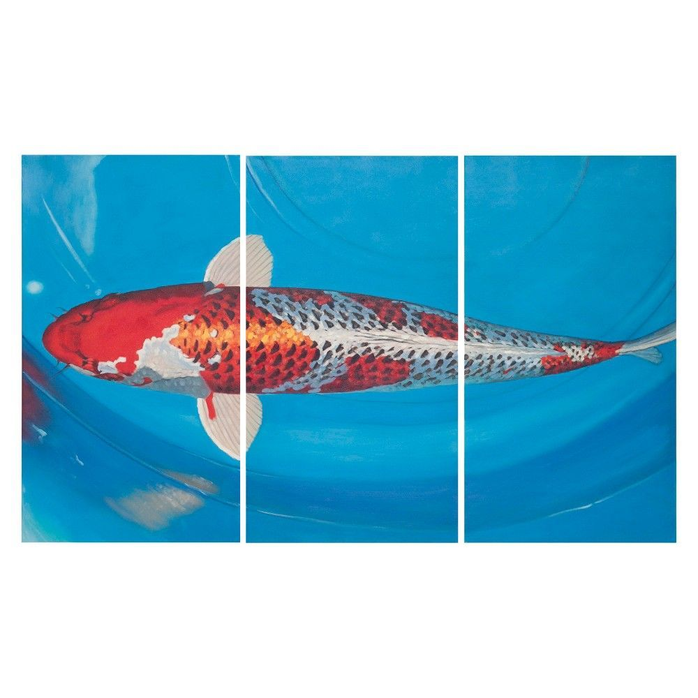 Go fish triptych wall art safavieh triptych fish and walls