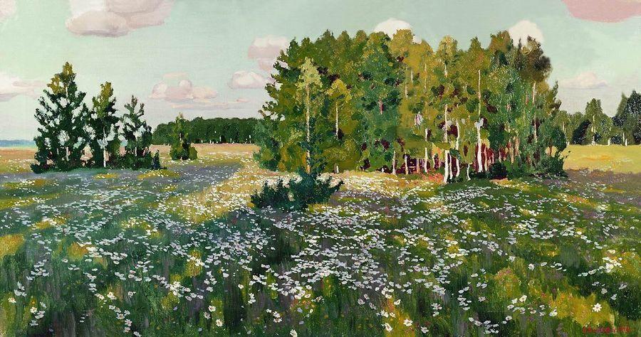 Arkady Rylov - The Flowering Meadow,1923