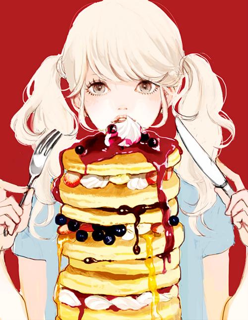 (via 「無性に甘いものが食べたい」/「馬」のイラスト [pixiv])