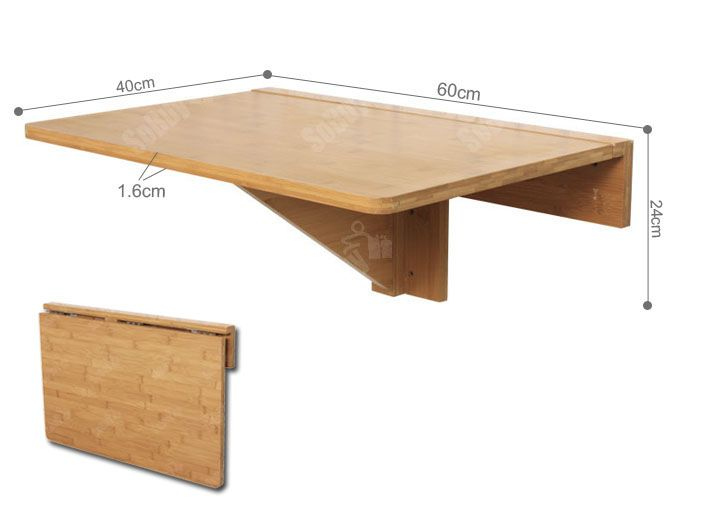 Fold Away Table And Hangs On Wall This Double Folding Is Fixed To The By Fastener