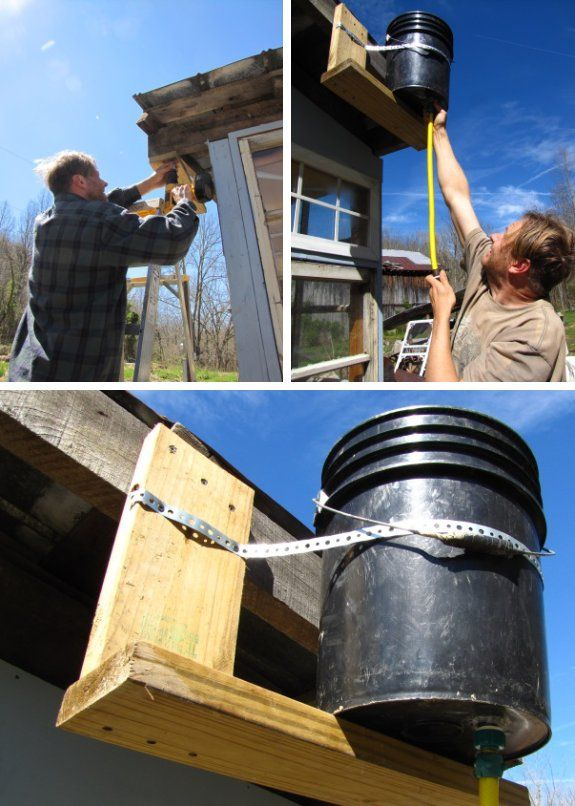 Five Gallon Bucket Solar Shower Do It Yourself Low Budget