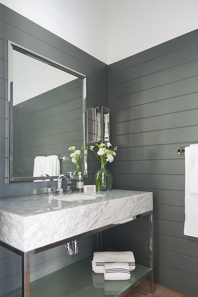 Best Sherwin Williams Sw 7068 Grizzle Gray The Powder Room 400 x 300