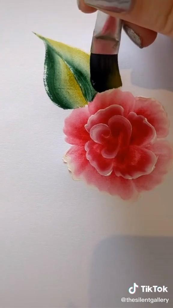 Rose painting tutorial