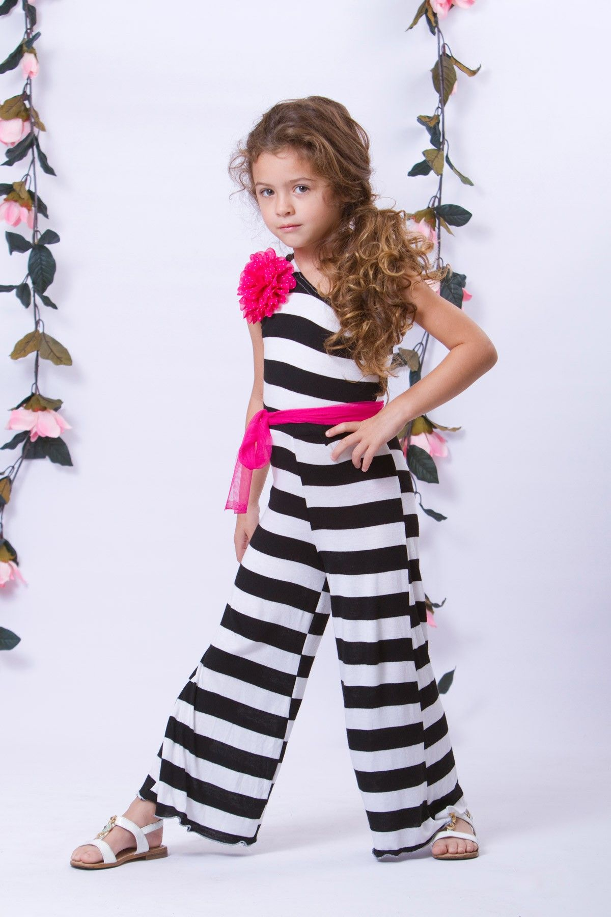 850e5828b One Shoulder Palazzo Pant Jumper (Toddler Girls)