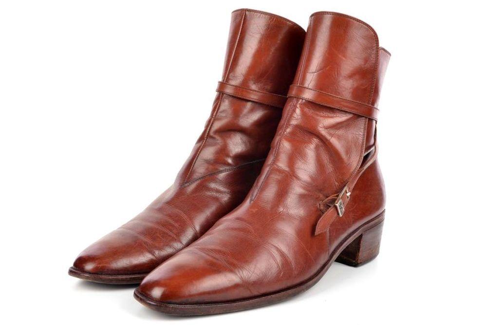Yves Saint Laurent Vintage Ysl Brown Jodhpur Mens Dress Shoes Boots 12 D Dress Shoes Men Shoe Boots Boots