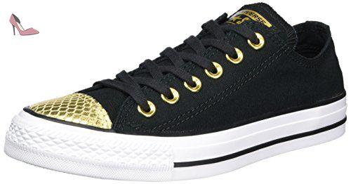 Converse All Star Ox W chaussures 7,5 blackgold