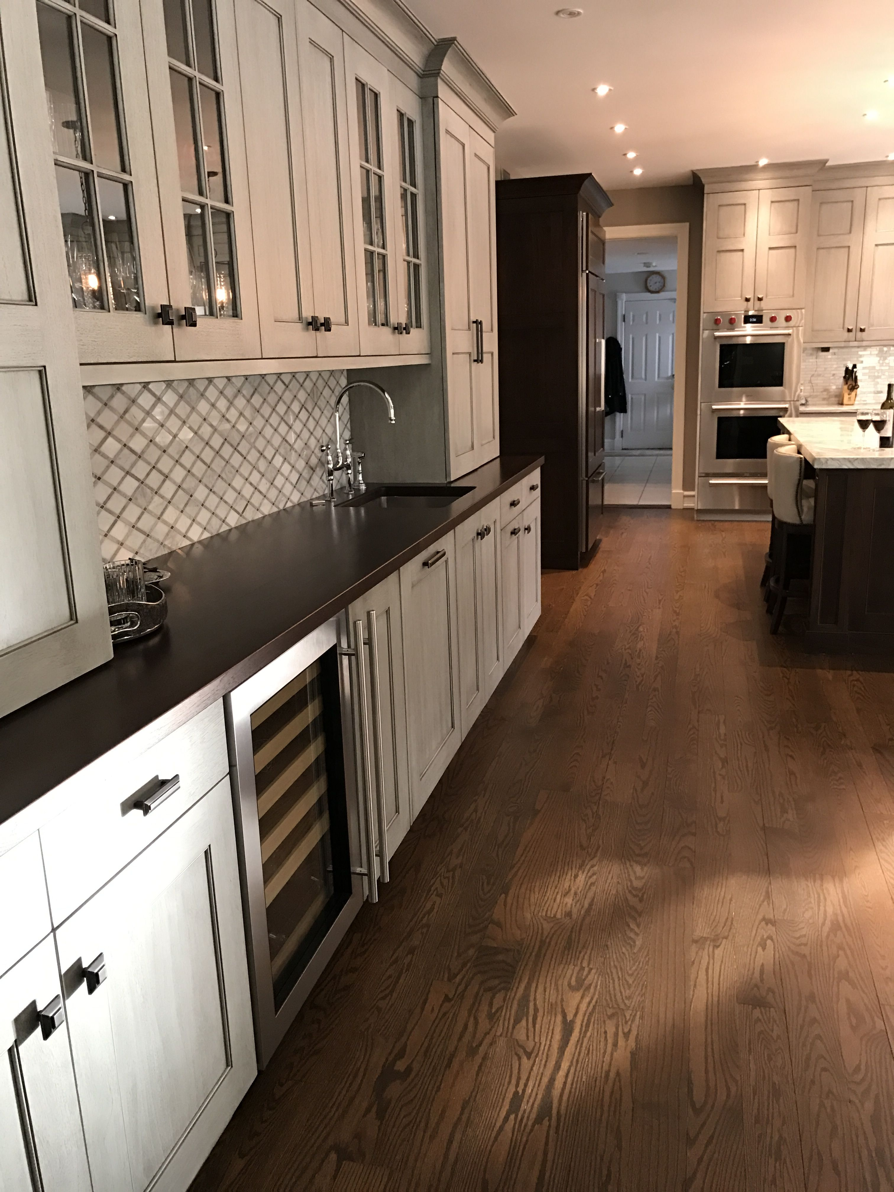Simply Beautiful Ruttcabinetry Bar Area Off The Kitchen ...