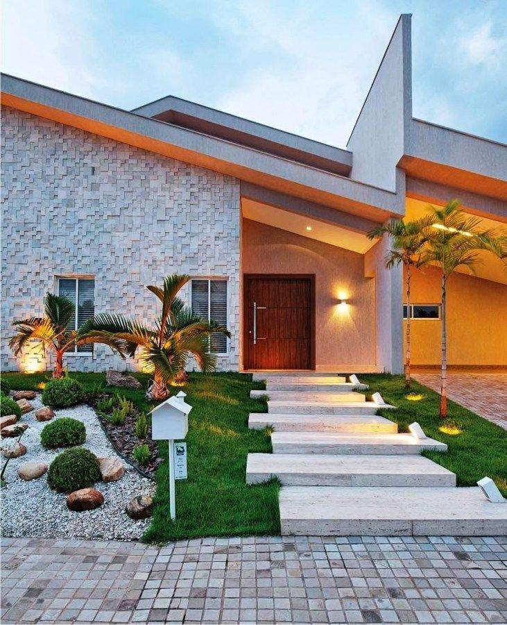 Fachadas para Casas e alguns Tipos de Revestimentos Ideias