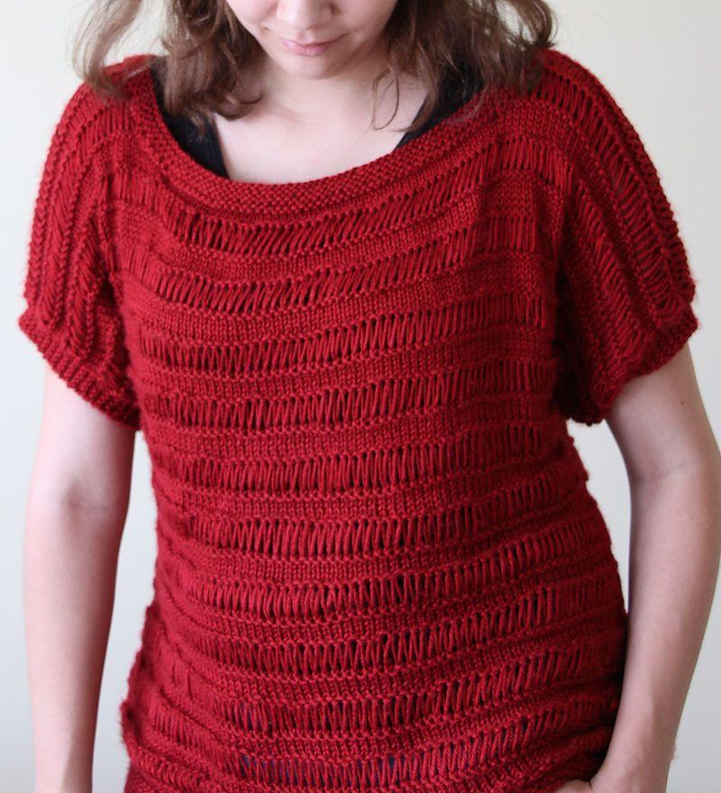 Free Knitting Pattern for Drop Stitch Tunic - The Glistening Drops ...