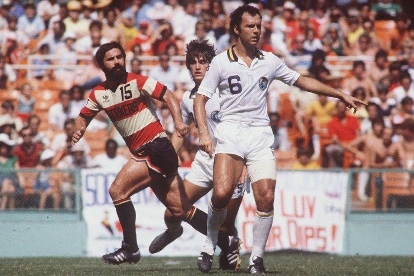 Franz Beckenbauer's New York Cosmos met his former Bayern München ...