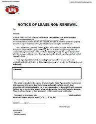 Non Renewal Of Tenancy Notice At Essential Landlord Rental Forms