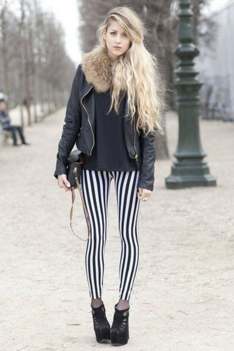 Znalezione obrazy dla zapytania long leg vertical stripes